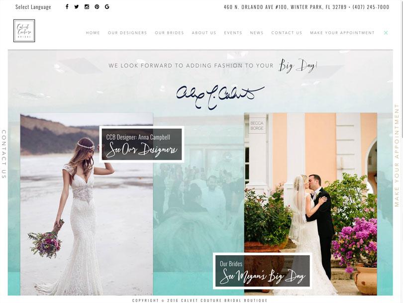 Calvet Couture Bridal - Portfolio - Cao Creative