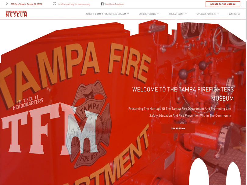 Tampa Firefighters Musem - Portfolio - Cao Creative